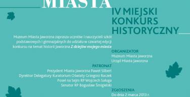 """""""Z dziejów mojego miasta"""" – edycja IV"""